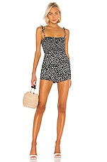 Lovers + Friends Charlie Romper in Black & White