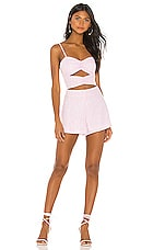 Lovers + Friends Layne Romper in Baby Pink