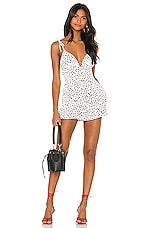 Lovers + Friends Gillian Romper in White & Black
