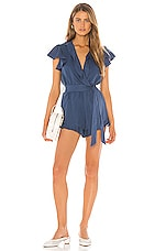Lovers + Friends Getaway Romper in Blue