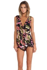 Lovers + Friends Can't Let Go Romper in Tropical Bloom
