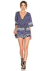 Lovers + Friends Isabelle Romper in Royal Scarf