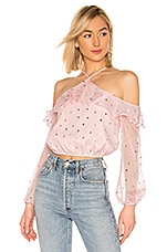 Lovers + Friends Oshrey Top in Powder Pink