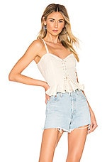 Lovers + Friends Stacey Top in Natural