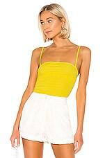 Lovers + Friends Marilyn Bodysuit in Yellow