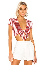 Lovers + Friends Moyo Top in Red & White