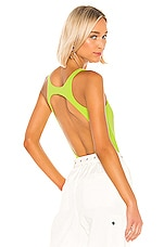 Lovers + Friends Esme Bodysuit in Neon Green