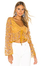 Lovers + Friends Lilly Top in Goldenrod Yellow