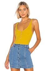 Lovers + Friends Gabby Bodysuit in Yellow