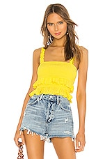 Lovers + Friends Carrie Top in Neon Yellow