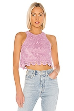 Lovers + Friends Milo Top in Lilac Purple