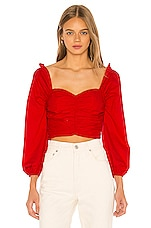 Lovers + Friends Octavia Crop Top in Red