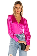 Lovers + Friends Greyson Top in Magenta Pink