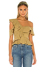 Lovers + Friends Shiloh Top in Army Green