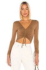 Lovers + Friends Heather Top in Deep Taupe