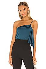 Lovers + Friends Maia Top in Deep Teal