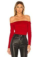 Lovers + Friends Lyanna Bodysuit in Red