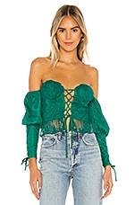 Lovers + Friends Wilma Top in Emerald Green