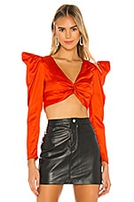 Lovers + Friends Mintz Top in Fire Orange