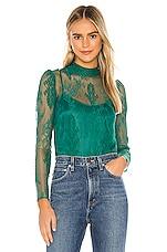 Lovers + Friends Minka Lace Top in Emerald Green