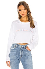 Lovers + Friends Human Kind Wilshire Long Sleeve Tee in White
