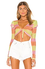 Lovers + Friends Guava Top in Sunset Ombre