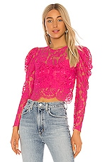 Lovers + Friends New Love Top in Fuchsia Pink