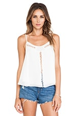 Wanderlust Tank in White