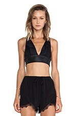Spotlight Crop Top in Black Lace