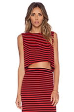 Lovers + Friends Ludi Crop Top in Red Stripe
