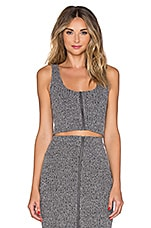 Lovers + Friends Downtown Top in Marled Grey
