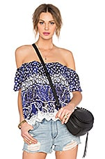 Life's A Beach Top en Royal Scarf