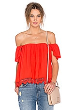 x REVOLVE Life's A Beach Top in Red Orange