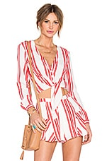 x REVOLVE Carmine Top in Red Stripe