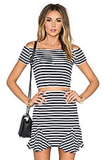 Crashing Waves Top in Navy Stripe