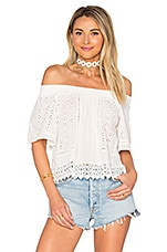 Lovers + Friends Seamist Top in Ivory