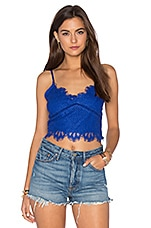 Shimmer Top en Marine Blue Lace