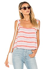 Lovers + Friends Maybe Monday Top in Berry Stripe