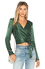 Lovers + Friends Celia Top in Emerald