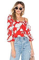 Lovers + Friends Verona Top in Red St. Barths Floral