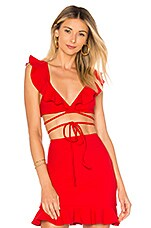 Lovers + Friends Flamingo Top in Red