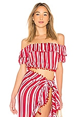 Lovers + Friends Alicia Top in Red Stripe