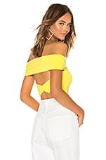 Lovers + Friends Neil Bodysuit in Bright Yellow