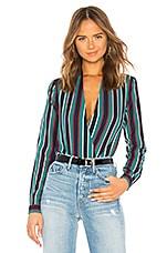 Lovers + Friends Get Down Blouse in Turquoise Multi