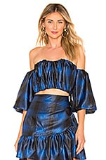 Lovers + Friends Brent Top in Blue & Black