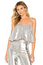 Lovers + Friends Celine Top in Silver