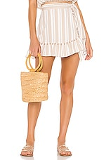 x REVOLVE Alicia Skirt in Nude Stripe