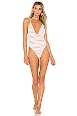 Lovers + Friends Sundeck One Piece in Umbrella Stripe