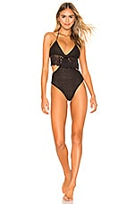 Lovers + Friends White Sands One Piece in Black