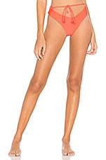 Lovers + Friends Tulip High Waist Bottom in Hot Coral